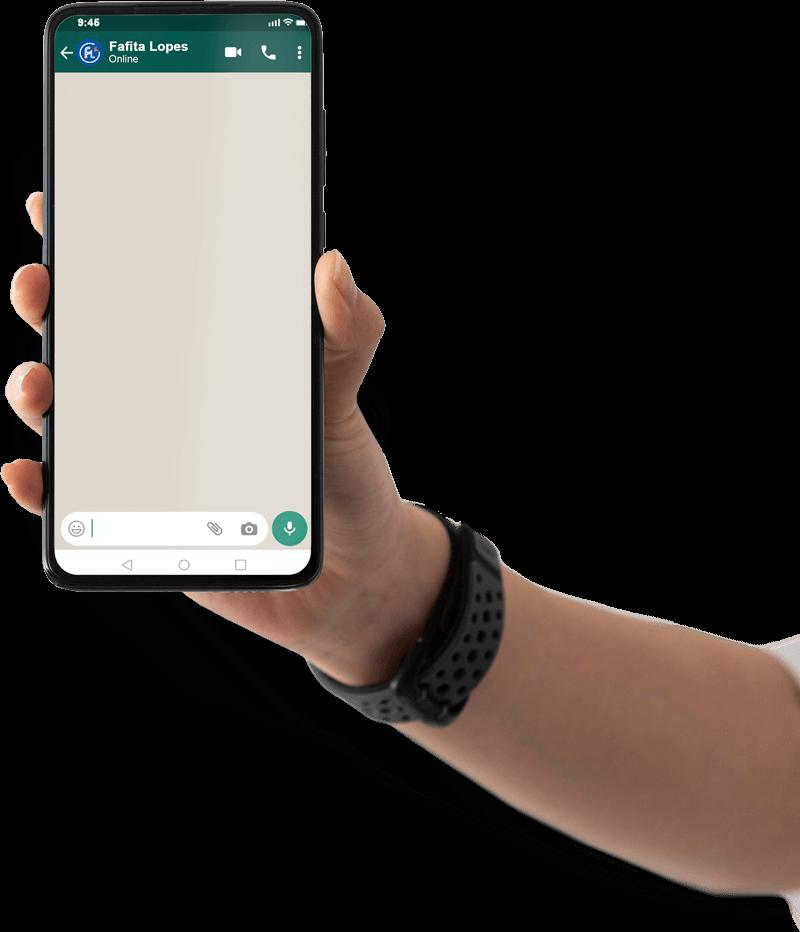 mao-com-celular com whatsApp
